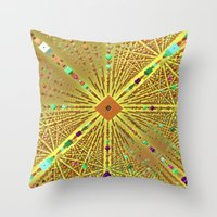 labyrinth Throw Pillows featuring Labyrinth by Fractalinear