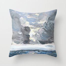 Reflections on a Storm Throw Pillow