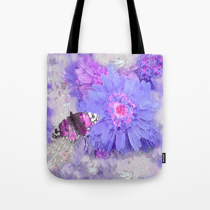 Daisy and Butterfly Tote Bag