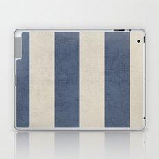 vintage dark blue stripes Laptop & iPad Skin