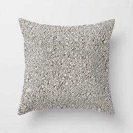 Moon Rock Concrete Block Throw Pillow