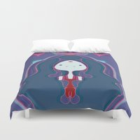 rush Duvet Covers featuring Blood Rush by xoxolovefranklin