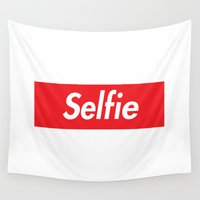supreme Wall Tapestries featuring Selfie Supreme by RexLambo