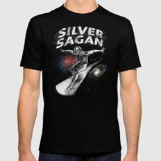 Silver Sagan Mens Fitted Tee LARGE Black