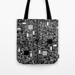 Serious Circuitry Tote Bag