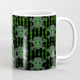 Hacker Skull Crossbones (pattern version) Coffee Mug
