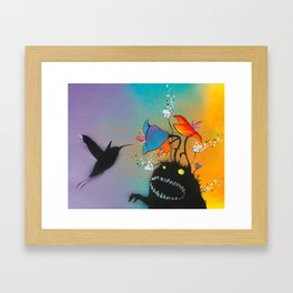 Even Monsters Need A Little Attention Framed Art Print