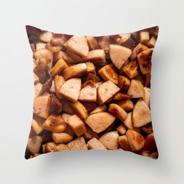 Sausages and bacon Throw Pillow