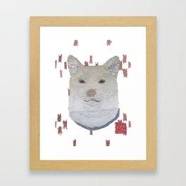 SHIBA INU, DOG Framed Art Print