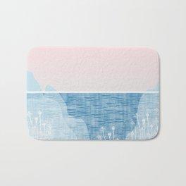 Pastel Sea Landscape Design Bath Mat