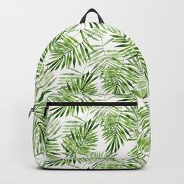 Green leaves . Watercolor pattern Backpack
