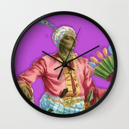 Colorful Portrait Indian Royalty Wall Clock