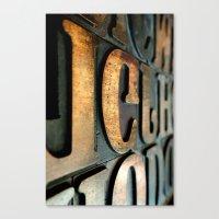 letters Canvas Prints featuring letters by Sébastien BOUVIER