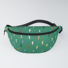 Retro Golf Pattern Fanny Pack