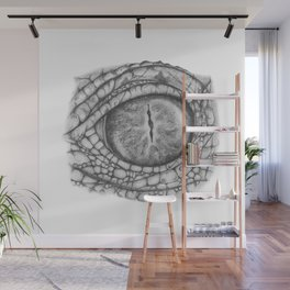 Gator Eye Wall Mural