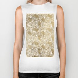 Tropical elegant modern faux gold palm tree Biker Tank