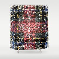 glass Shower Curtains featuring Glass by mari3000