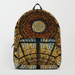 Barcelona glass window stained glass Backpack