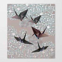 origami birds Canvas Print