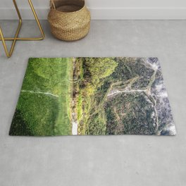 Earthy Mountain Stream // Hiking Bliss Incredible Views of the Beautiful Mountainscape Rug