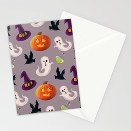 It's Halloween time seamless pattern digital illustration  Stationery Cards