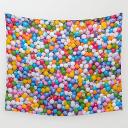 Rainbow Pastel Multicolored Sprinkle Dots Real Candy Pattern  Wall Tapestry
