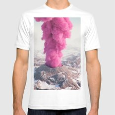 Pink Eruption White LARGE Mens Fitted Tee