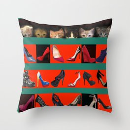 Kittens for May in May Throw Pillow