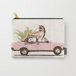 Tiger on Car Carry-All Pouch