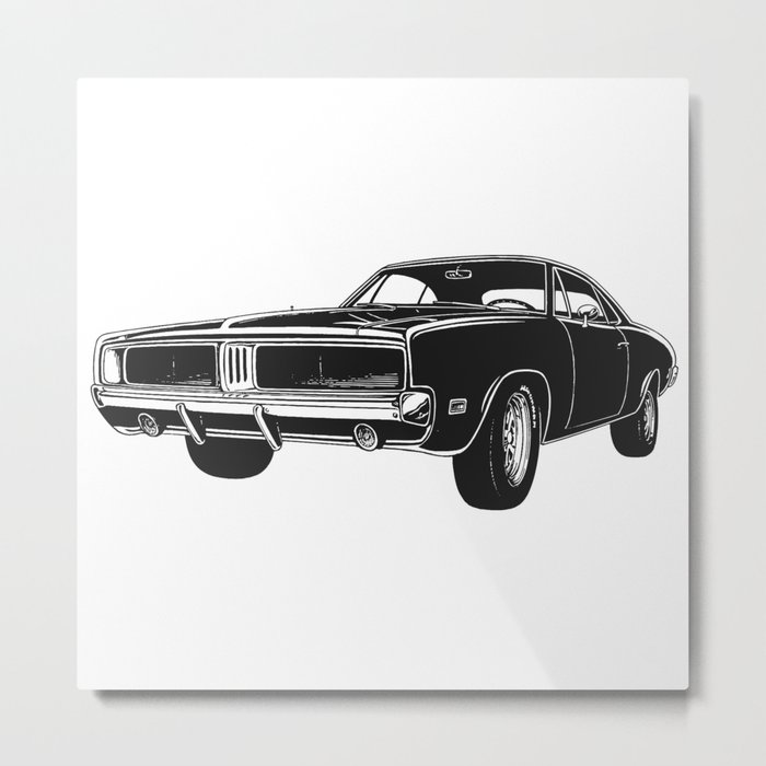Charger Muscle Car Metal Print