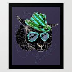 Hipster Sheepster Art Print