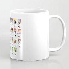 Video Games Pixel Alphabet Mug