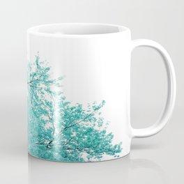Turquoise Cherry Blossoms Coffee Mug