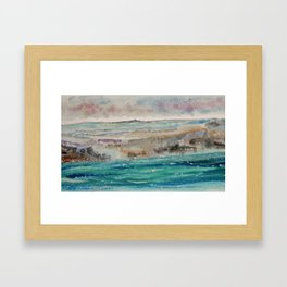 The Foreshore At Carradale Framed Art Print