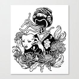 Kabuki Krysanthemums Canvas Print