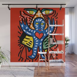 Blue Angel of Love with Eyes of Wisdom Street Art Wall Mural