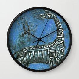 Antelope in Blue Wall Clock
