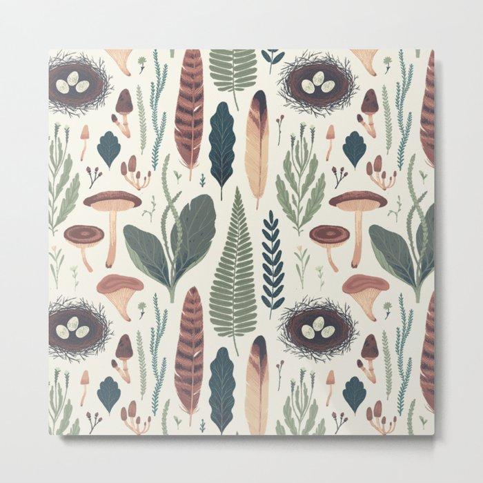 Forest Fall Pattern Metal Print