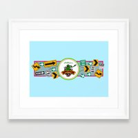 muppet Framed Art Prints featuring Muppet*Vision 3D Billboard by Rob Yeo Design