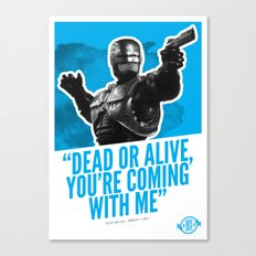 Badass 80's Action Movie Quotes - Robocop Canvas Print