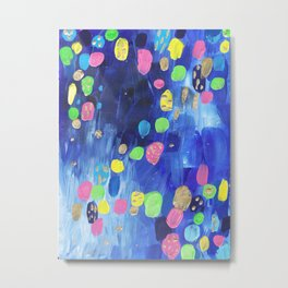 Abstract Candy Rain Colorplosion Metal Print
