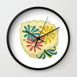 Lucy Floral Wall Clock