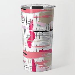 Pink Brushstroke Travel Mug