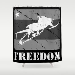 FREEDOM! Snowmobile Shower Curtain