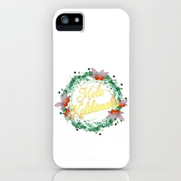Mele Kalikimaka Hawaiian Merry Christmas Design Gift iPhone Case