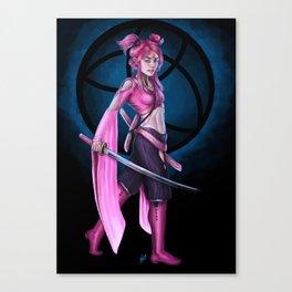 Bubblegum Swordmaster Canvas Print