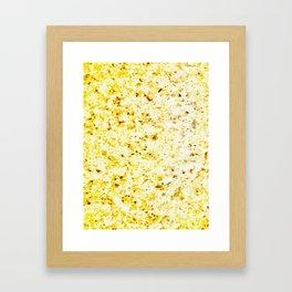 Dirty Gold Melted Molten Metal Framed Art Print