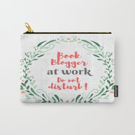 Book Blogger at work. Carry-All Pouch