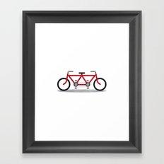 Broken Teamwork Tandem Bicycle Framed Art Print