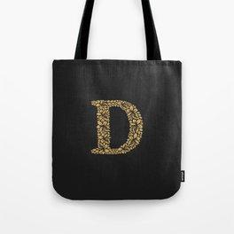 Flower Letter D Tote Bag